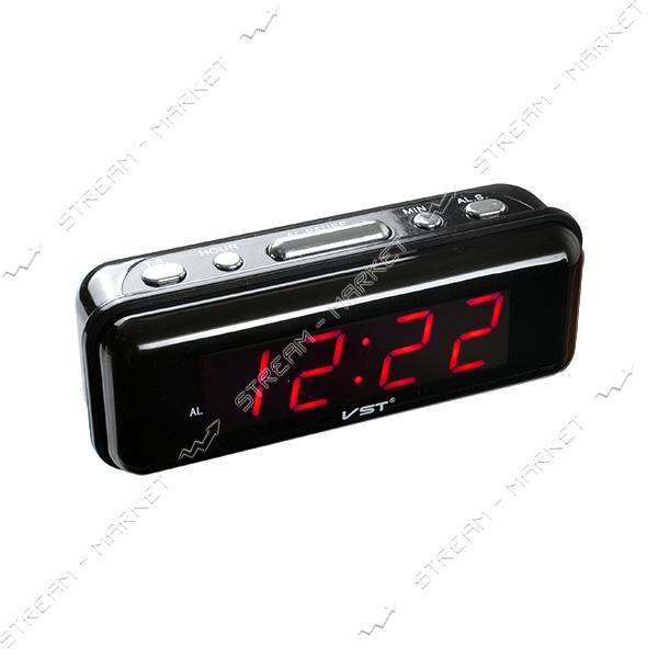 Часы сетевые 738-1 красные