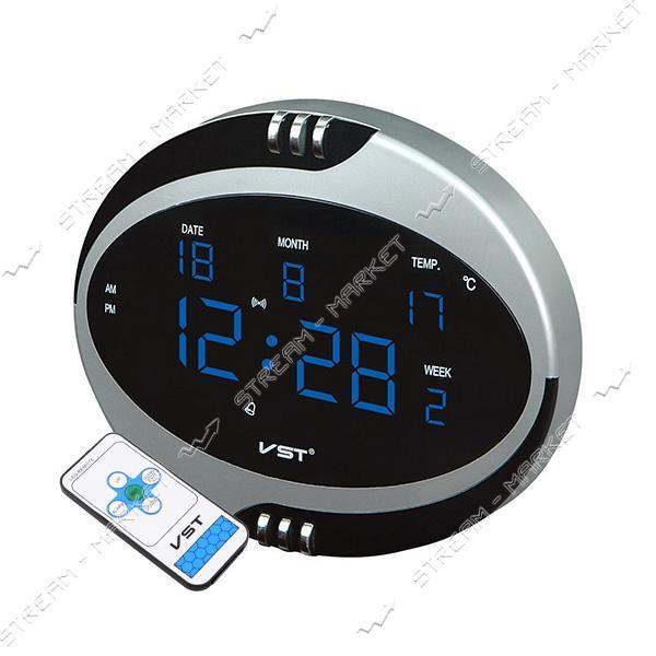 Часы сетевые 770 Т-5 синие, пульт Д/У