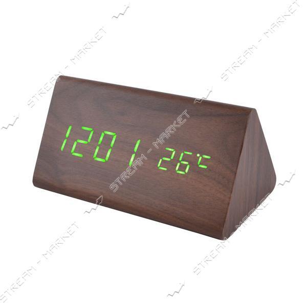 Часы сетевые 861-4 зеленые