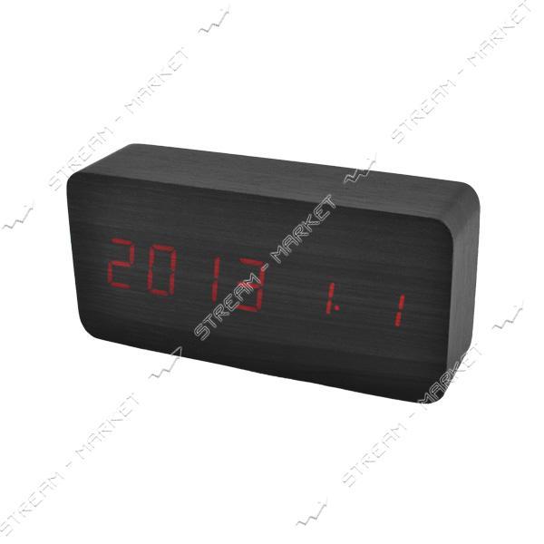 Часы сетевые 862-1 красные