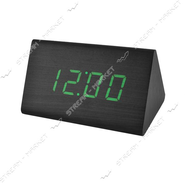 Часы сетевые 868-4 зеленые
