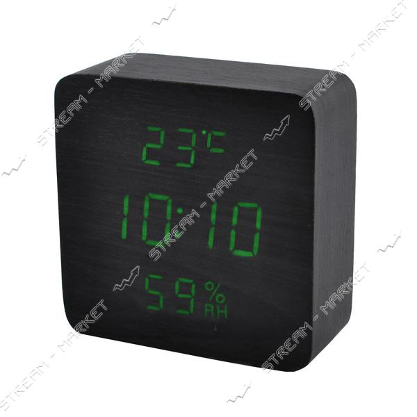 Часы сетевые 872S-4 зеленые