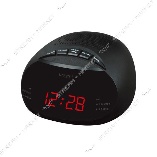 Часы сетевые 901-1 красные радио FM