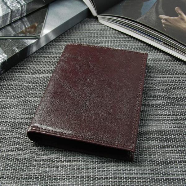 Портмоне мужское 3 в 1 (авто+паспорт), 4 отдела, для карт, для монет, цвет коричневый