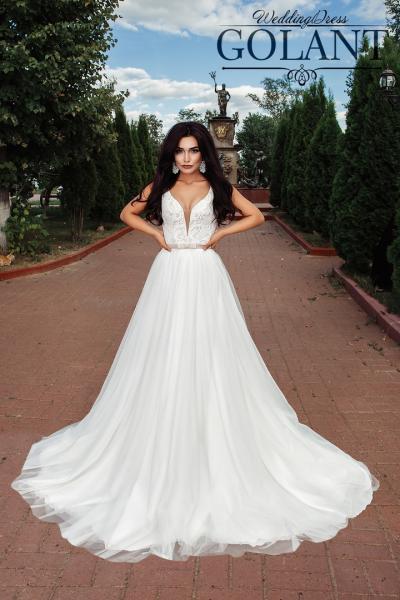 Легкое свадебное платье Бернадин