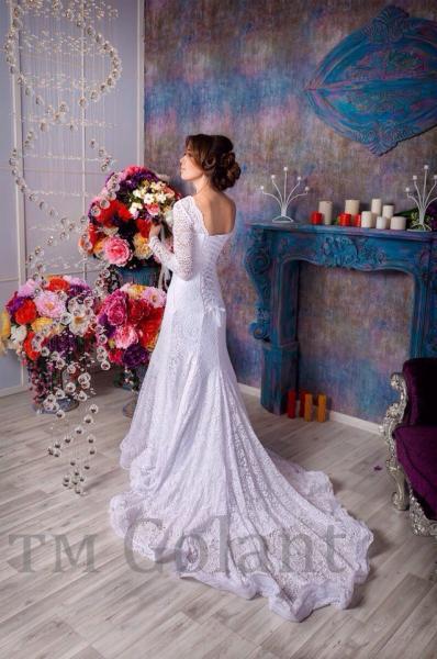 Кружевное свадебное платье русалка Аврил