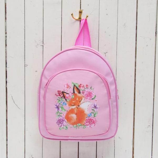 """Рюкзак детский """"Лиса"""", цвет розовый"""