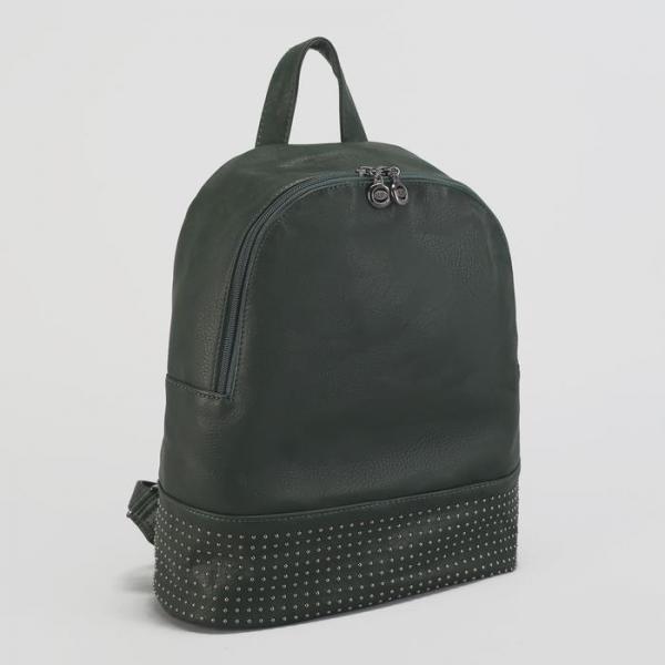 Рюкзак мол L-1449, 29*14*34, отд на молнии, н/карман, зеленый