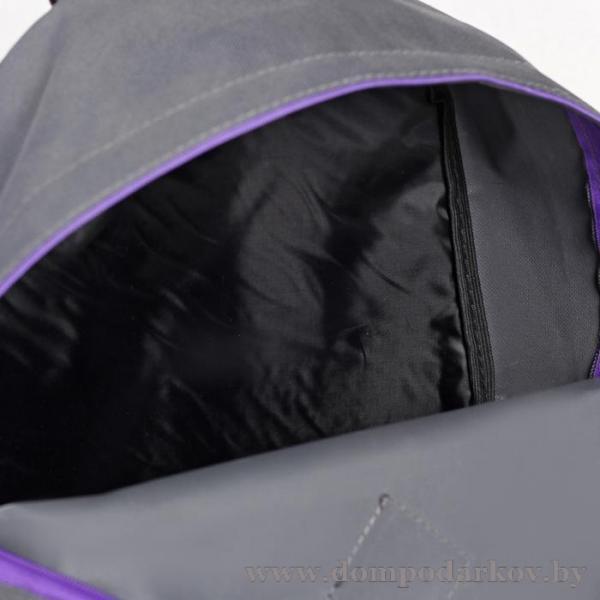 Фото ПОСМОТРЕТЬ ВЕСЬ КАТАЛОГ, Галантерея, Рюкзаки , Рюкзаки молодежные Рюкзак на молнии, 1 отдел, наружный карман, цвет серый