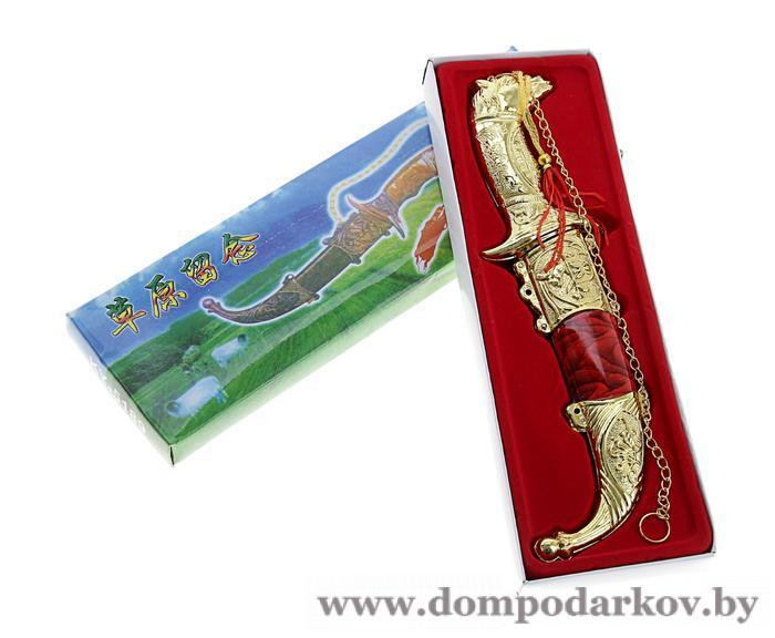 Фото Подарки на День рождения Сувенирный кортик, 19 см, рукоять в форме головы лошади