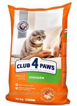 Корм для Кошек с Курицей Клуб 4 лапы 14кг