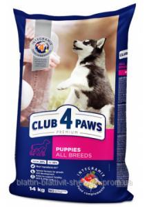 Корм Club 4 Paws Premium курица для щенков всех пород 14 кг