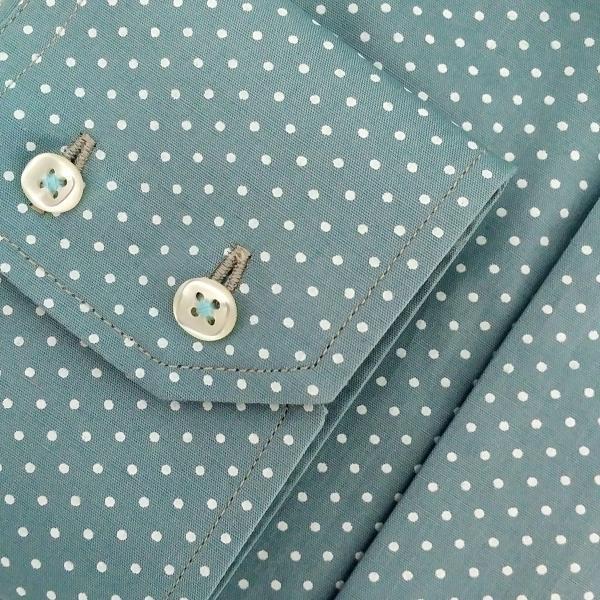 Фото Мужские рубашки Рубашка мужская Michael Schaft цвета темной бирюзы с принтом
