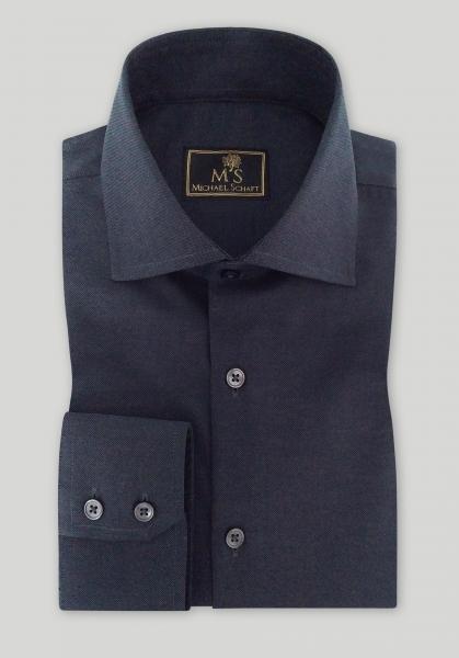 Рубашка мужская Michael Schaft Антрацитового цвета Slim Fit