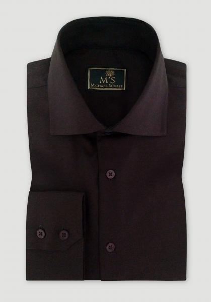 Рубашка мужская Michael Schaft Коричневого цвета Slim Fit
