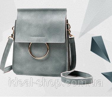 Женская сумка Hoop серая