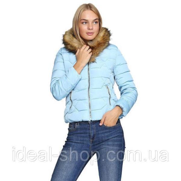 Куртка укороченная голубая