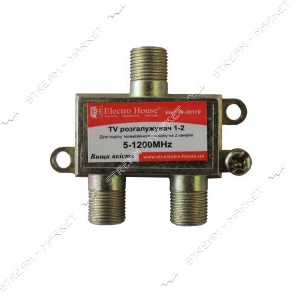 Сплиттер для антенного кабеля Electro House EH-TVF-00179