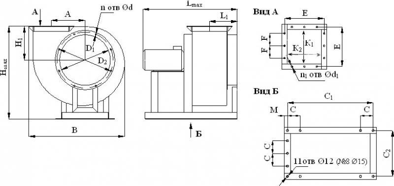 Вентиляторы среднего давления ВР 287-46