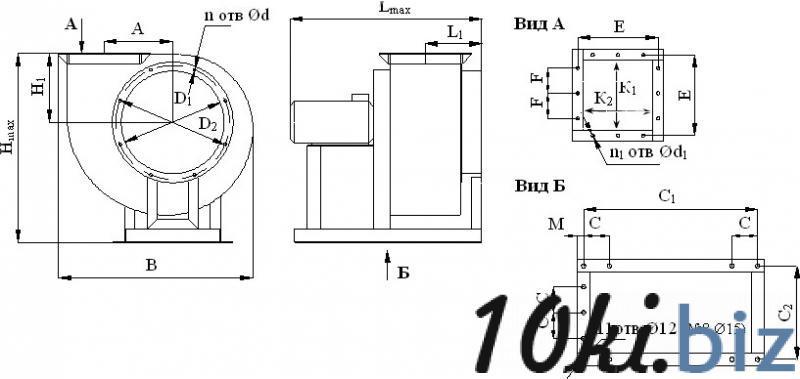 Вентиляторы среднего давления ВР 287-46, цена фото купить в Киеве. Раздел Вентиляторы промышленные