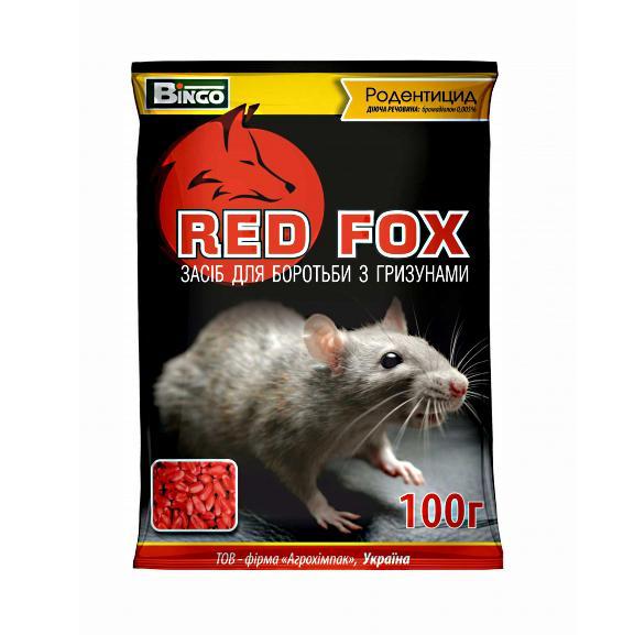Родентицид Red Fox 100 гр. Cредство от крыс, мышей, мышеподобных грызунов Агрохимпак