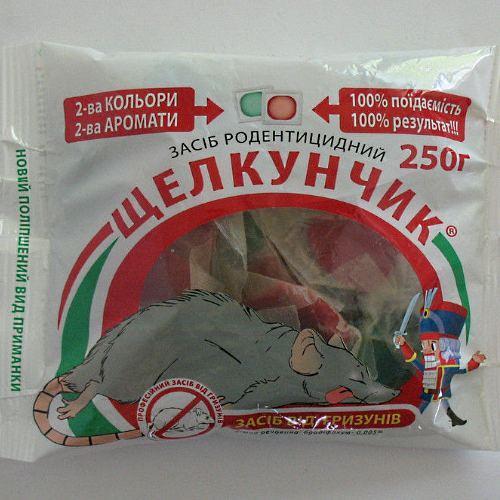Родентицид Щелкунчик 250 гр. приманка-тесто от крыс и мышей