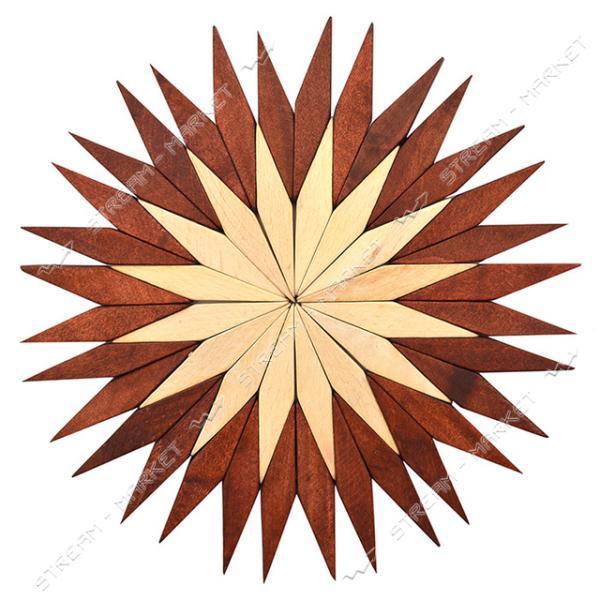 Подставка под горячее деревянная Звездочка d17.5см