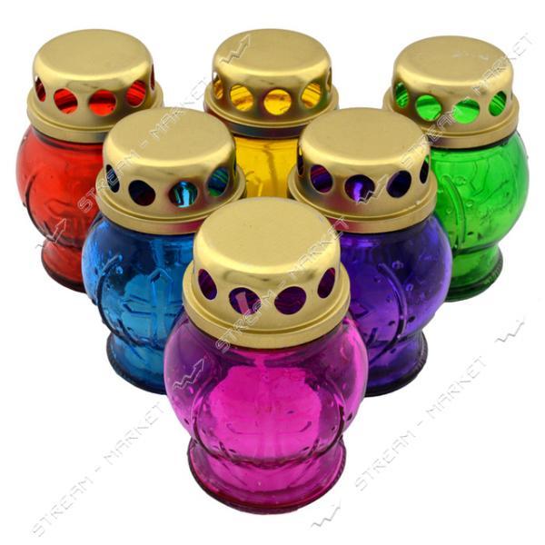 Лампадка Пасхальная малая со свечей стекло