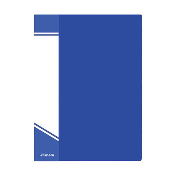 Папка с файлами inФОРМАТ А4 80 файлов, пластик 800 мкм, карман для маркировки, цвет ассорти