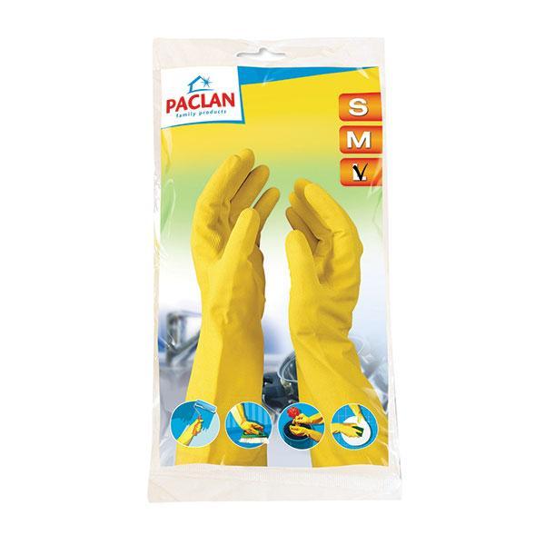 Перчатки резиновые с х/б напыл. PACLAN PROFESSIONAL , размер L, М