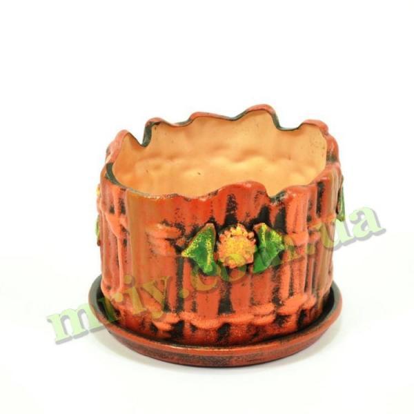 Горшок керамический для цветов Перелаз №2 тамп