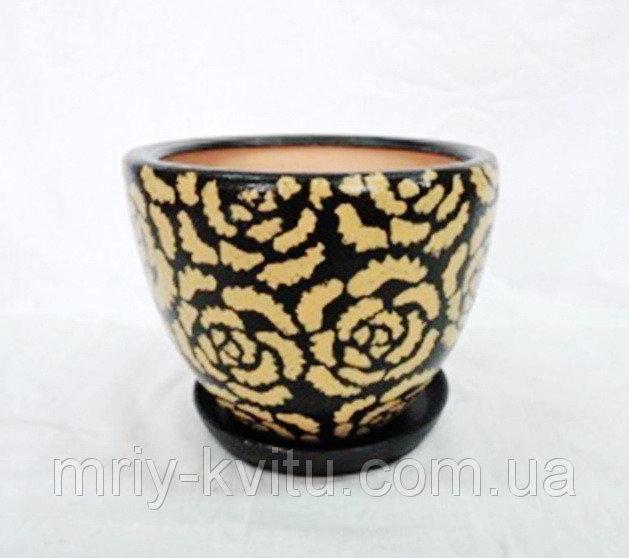 Горшок керамический для цветов Модена №2 тамп