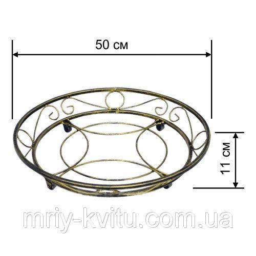 Кованая подставка на роликах круглая 3