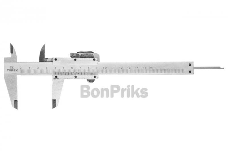 Штангенциркуль Topex - 150 мм, цена деления 0,05 мм