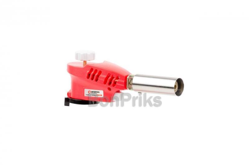 Горелка газовая c пьезоподжигом Intertool - GB-0023