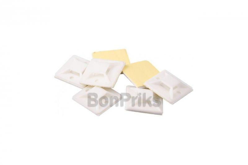 Держатель для хомута пластикового Mastertool - 20 x 20 мм (50 шт.)