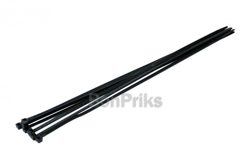 Хомут пластиковый Mastertool - 4,8 х 200 мм, черный (100 шт.)