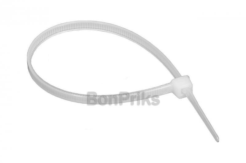Хомут пластиковый Apro - 7,6 х 250 мм, белый (100 шт.)