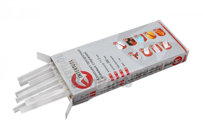 Клеевые стержни Intertool - 11,2 х 300 мм, прозрачные (1 кг)