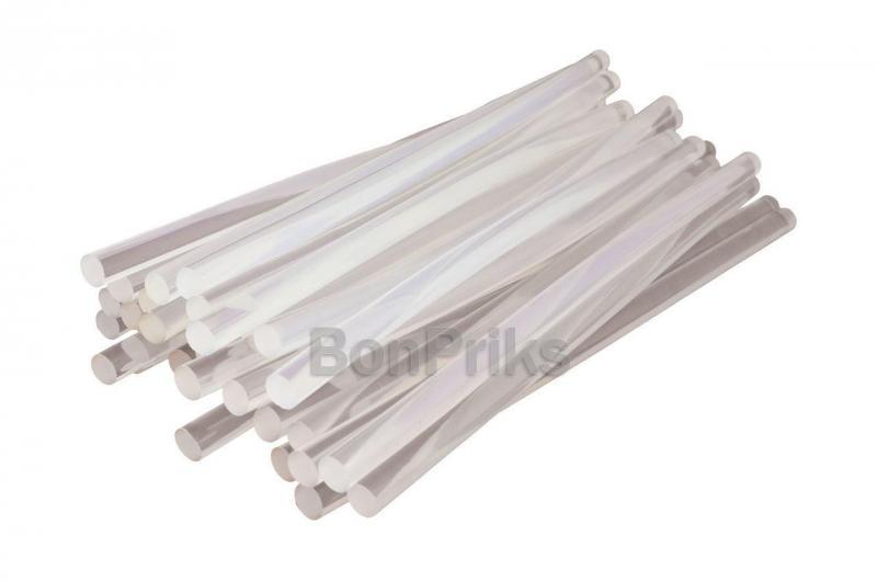 Клеевые стержни Intertool - 11,2 х 300 мм, прозрачные пакет (1 кг)