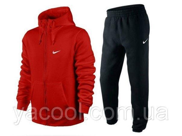 Теплый спортивный костюм на детей и подростков  158, темно-серый, красный