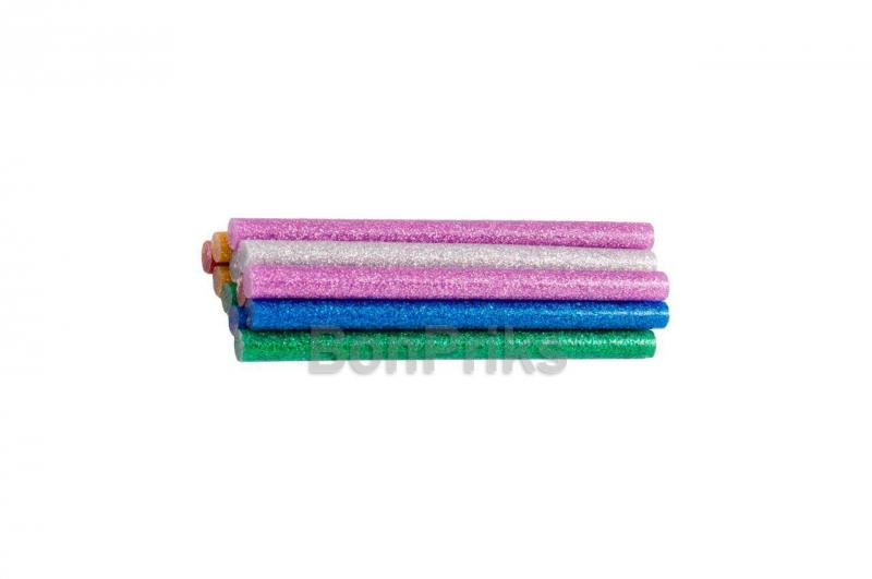 Клеевые стержни Mastertool - 7,2 x 100 мм, цветные перламутровые (12 шт.)