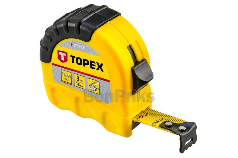 Рулетка Topex - 3 м х 16 мм, Shiftlock