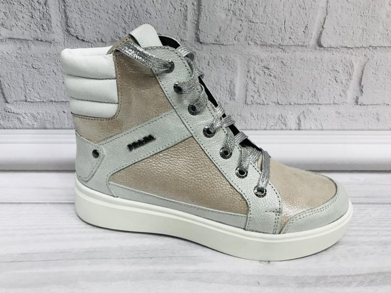 Стильные кожаные ботинки Prada. Украина