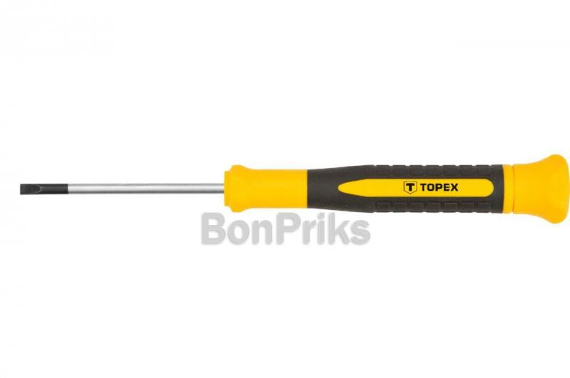 Отвертка Topex - шлицевая прецизионная SL3 х 50 мм