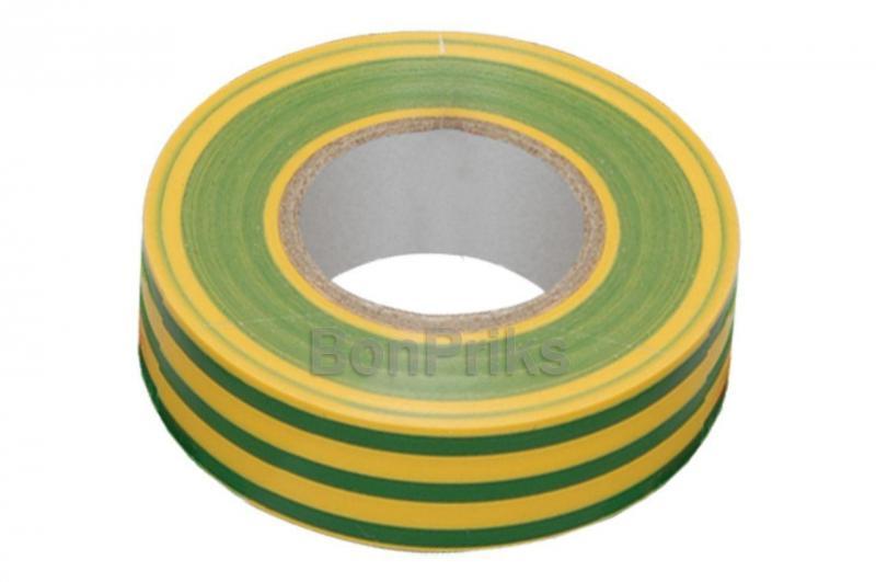 Изолента Apro - 10 м x 17 x 0,14 мм, желто-зеленая