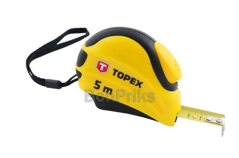 Рулетка Topex - 7,5 м х 25 мм, автостоп