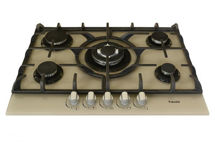 Варочная панель газовая стеклянная встраиваемая Fabiano FHG 10-55 VGH-T Champagne