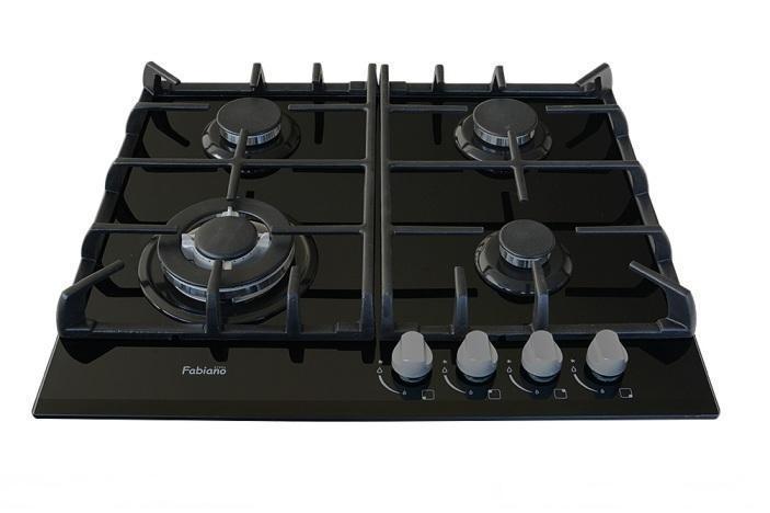Газовая поверхность (черное стекло) Fabiano FHG 10-44 GH-T Black Glass