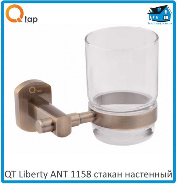Cтакан настенный для зубных щеток QT Liberty ANT 1158
